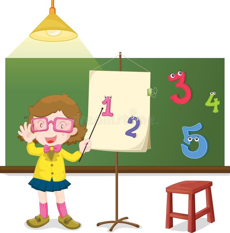 подсчитайте как преподавательство к иллюстрация вектора