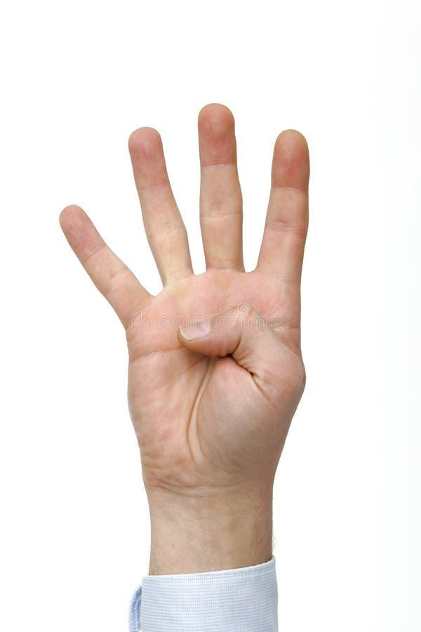 подсчитывать руку 4 стоковая фотография