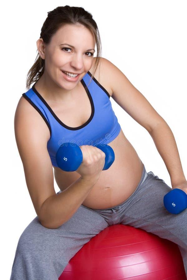 подходящая беременная женщина стоковое изображение