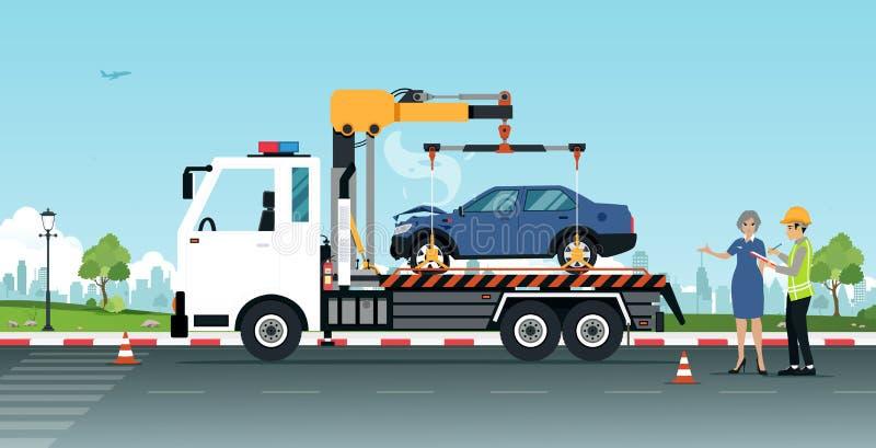 Подъем автомобиля к ремонту бесплатная иллюстрация