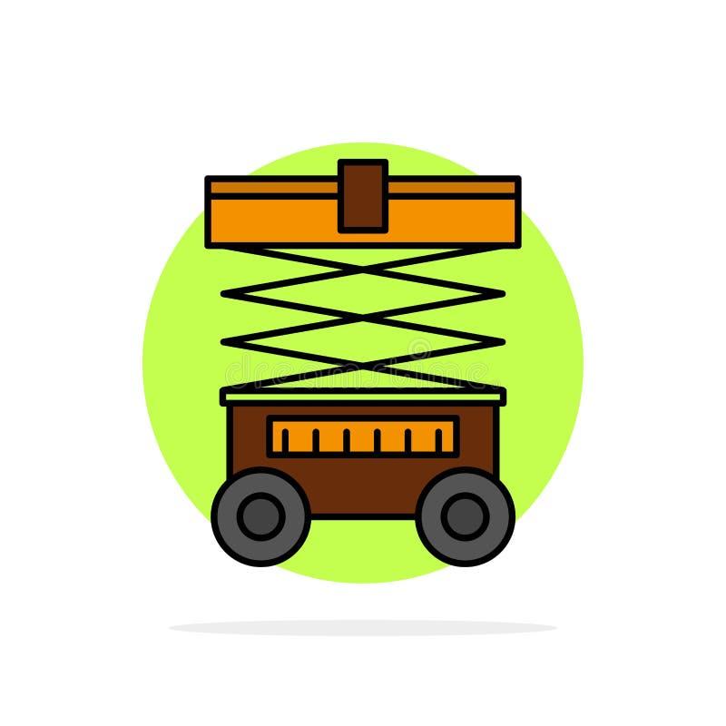 Подъем, грузоподъемник, склад, Lifter, значок цвета абстрактной предпосылки круга плоский иллюстрация штока