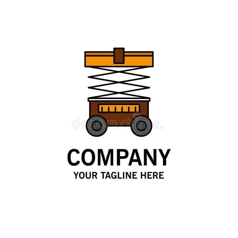 Подъем, грузоподъемник, склад, Lifter, шаблон логотипа дела r иллюстрация штока