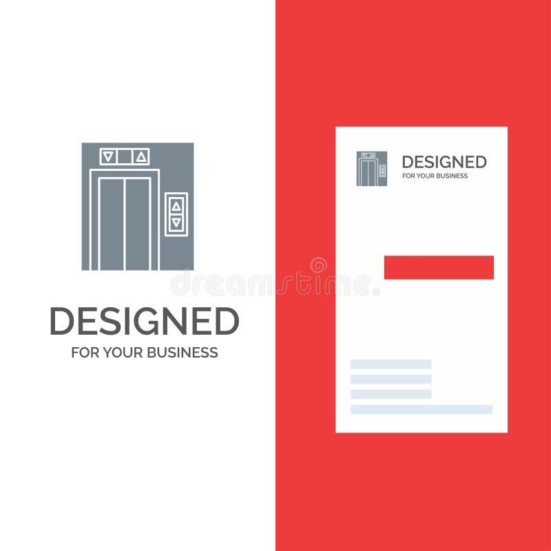 Подъем, здание, дизайн логотипа конструкции серые и шаблон визитной карточки бесплатная иллюстрация