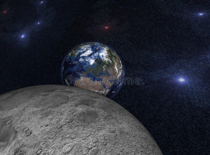подъем земли иллюстрация вектора