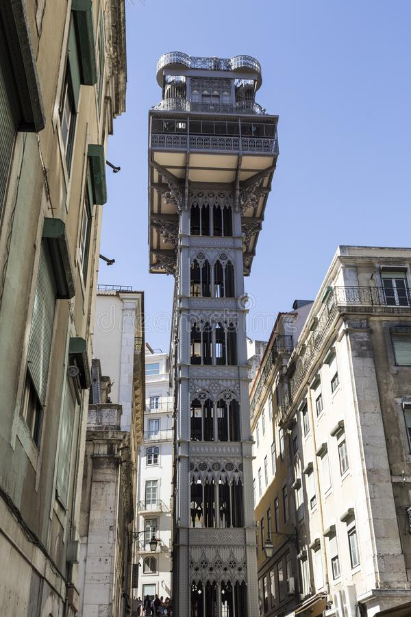 Подъем Лиссабона Санты Justa стоковое изображение rf