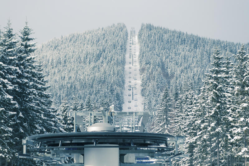 Подъем лыжи стоковое фото rf