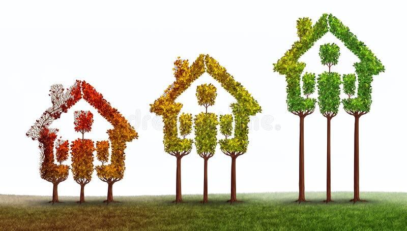 Подъем недвижимости иллюстрация штока