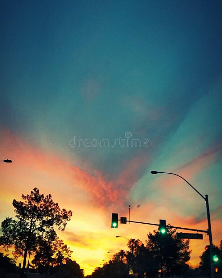 Подъем Сиона Солнця стоковое фото