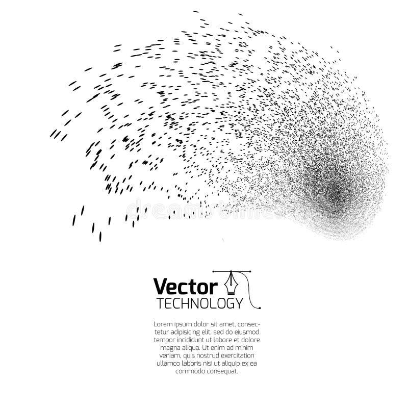 Подъем, шум и волна иллюстрация вектора