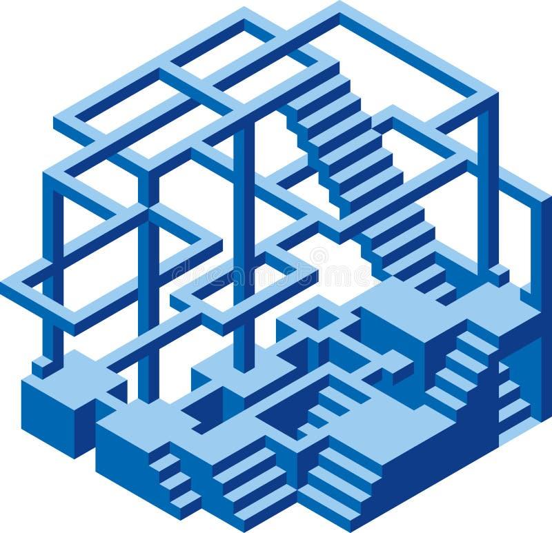 Под конструкцией Hexel бесплатная иллюстрация