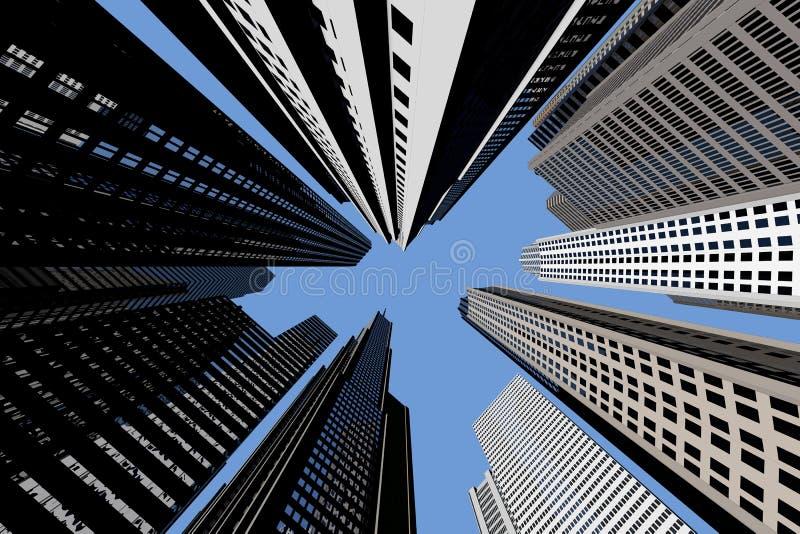 под небоскребами бесплатная иллюстрация