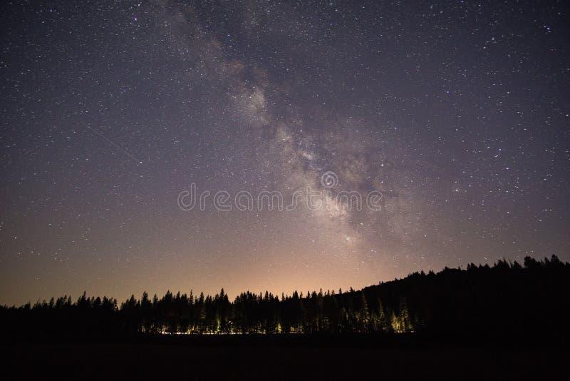 Под ночным небом стоковое изображение