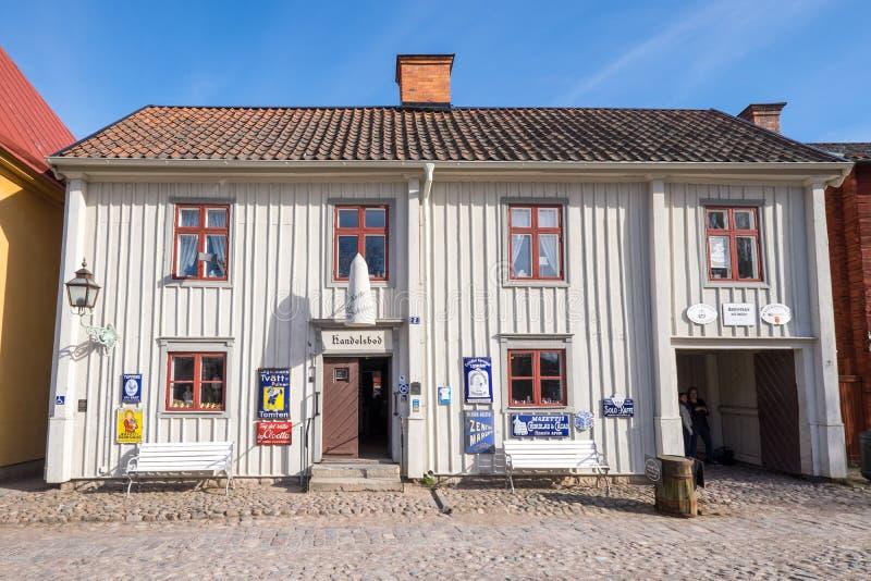 Под открытым небом музей старое Linköping в Швеции стоковое фото