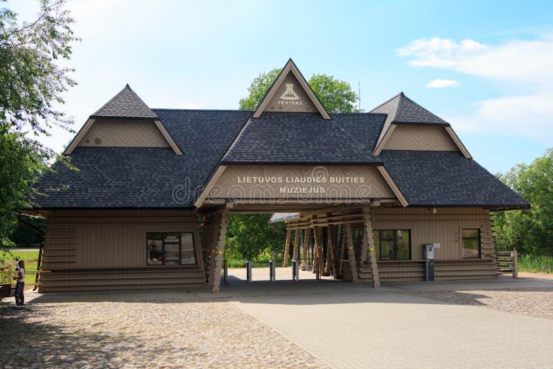 Под открытым небом этнографический музей в Rumsiskes стоковые фотографии rf