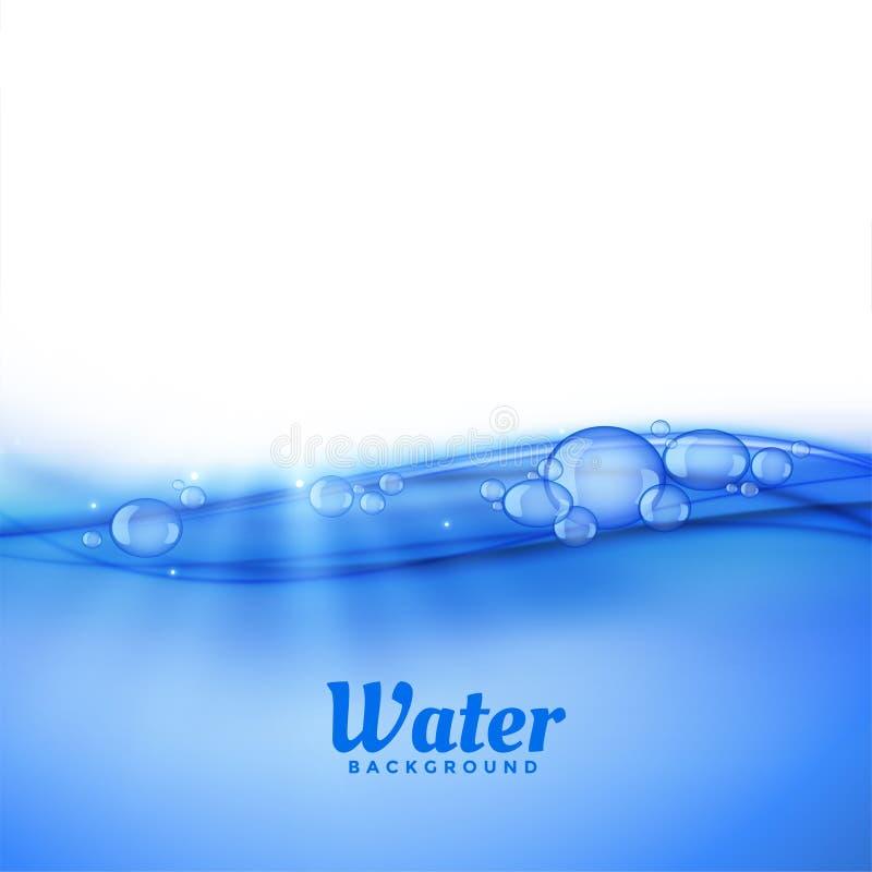 Под предпосылкой воды с пузырями бесплатная иллюстрация