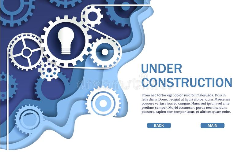 Под страницей вебсайта конструкции, шаблон вектора знамени сети иллюстрация вектора