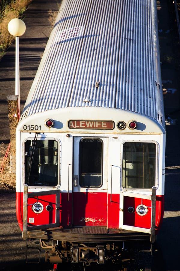 Поезда alewife Бостона стоковое фото rf