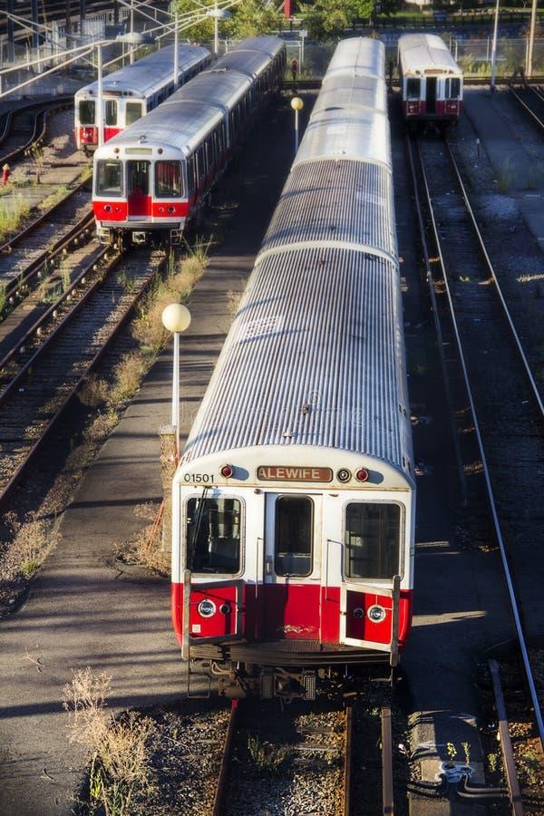 Поезда alewife Бостона стоковые изображения
