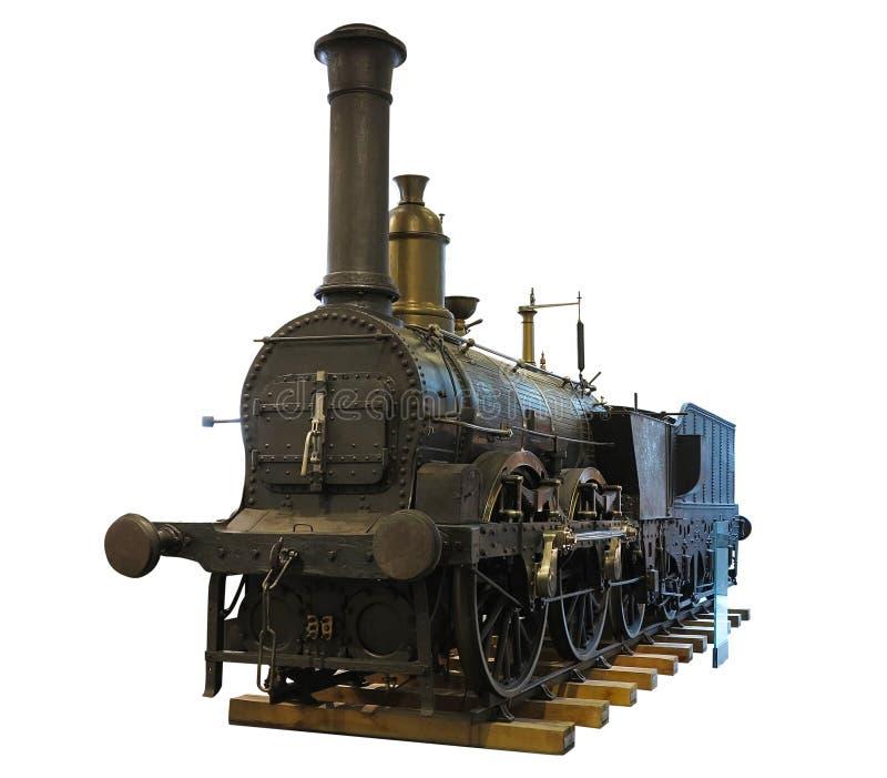 Поезд абстрактного старого винтажного парового двигателя локомотивный изолированный сверх стоковые фото