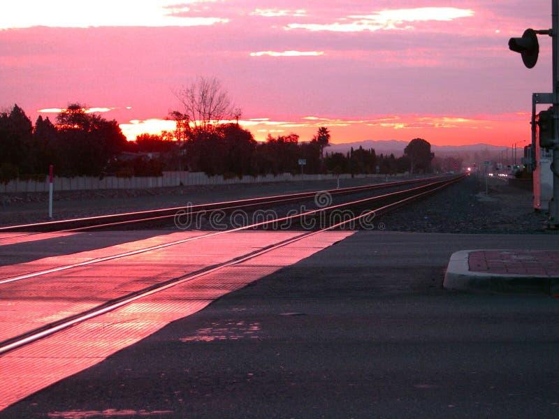поезд восхода солнца стоковое изображение rf