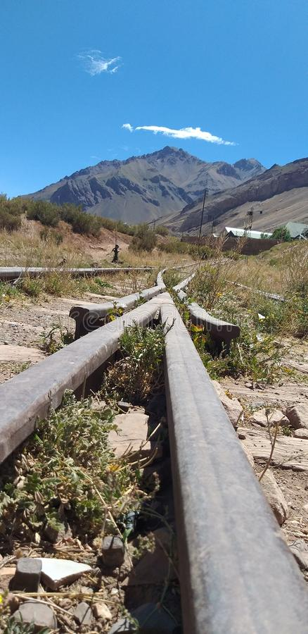 Поезд в Mendoza стоковые фото