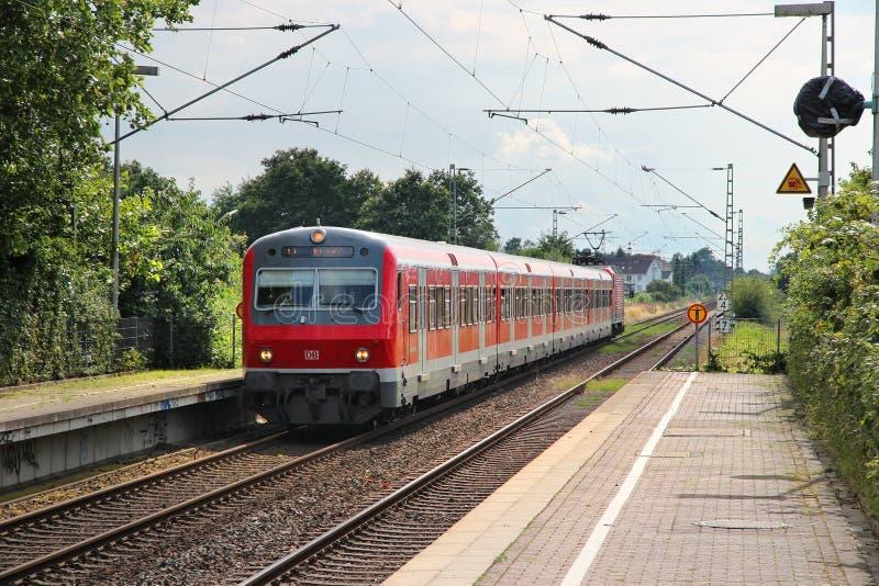 Поезд Германии региональный стоковая фотография