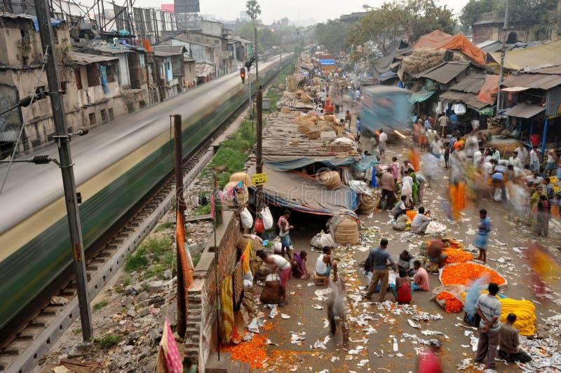Поезд города стоковая фотография rf
