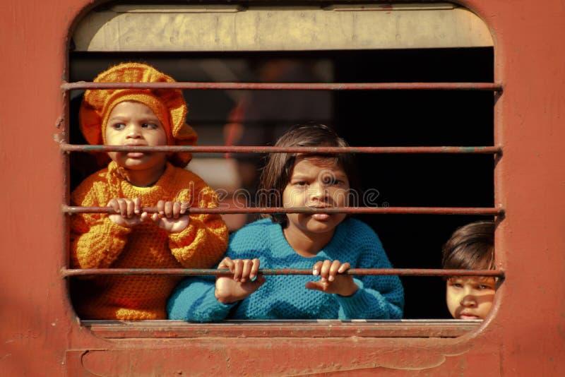 поезд детей стоковое изображение rf