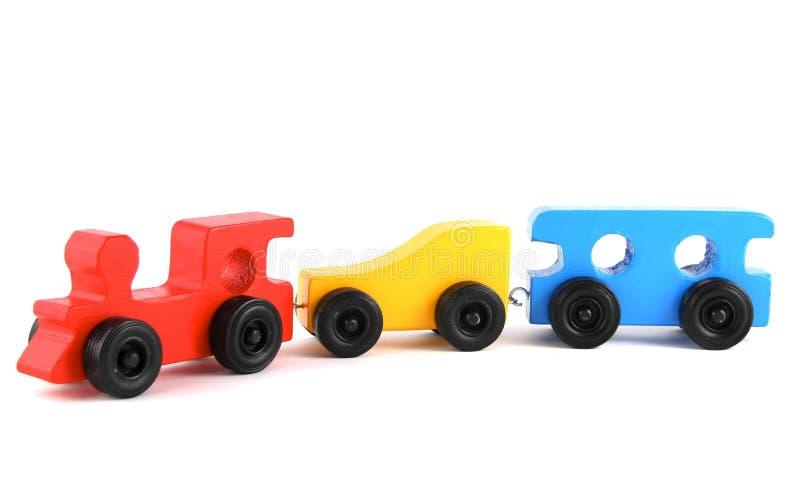 поезд игрушки деревянный стоковая фотография rf