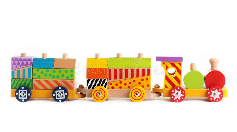 поезд игрушки стоковая фотография