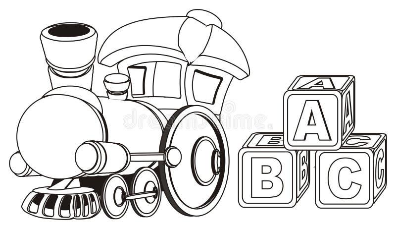 Поезд и новички игрушки краски бесплатная иллюстрация