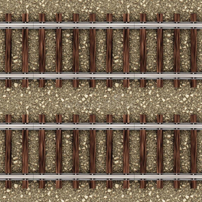 поезд камней картины железнодорожный безшовный иллюстрация вектора