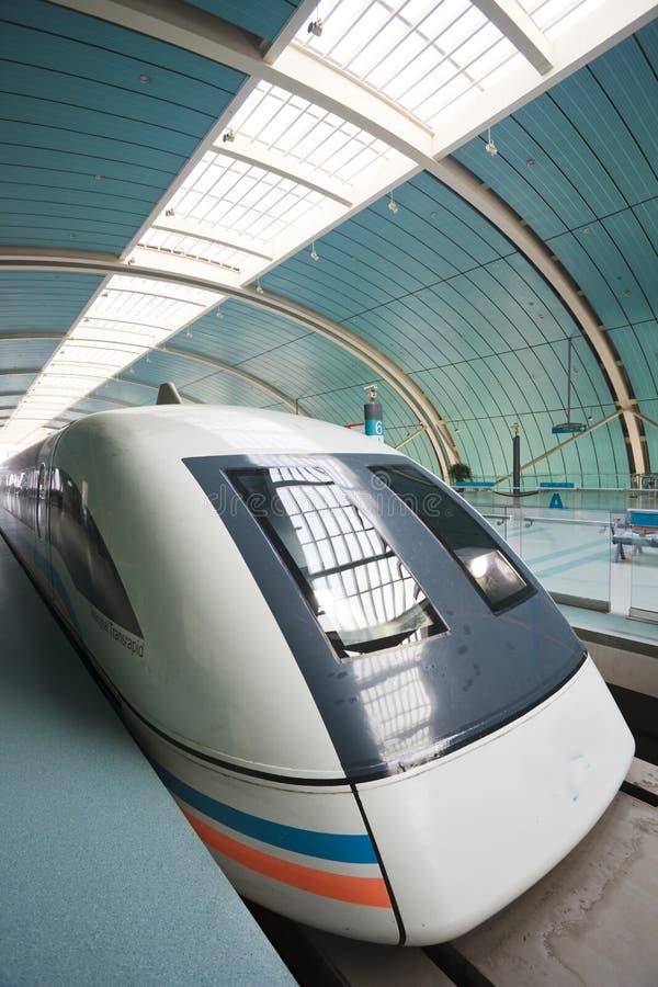 поезд левитации магнитный стоковая фотография rf