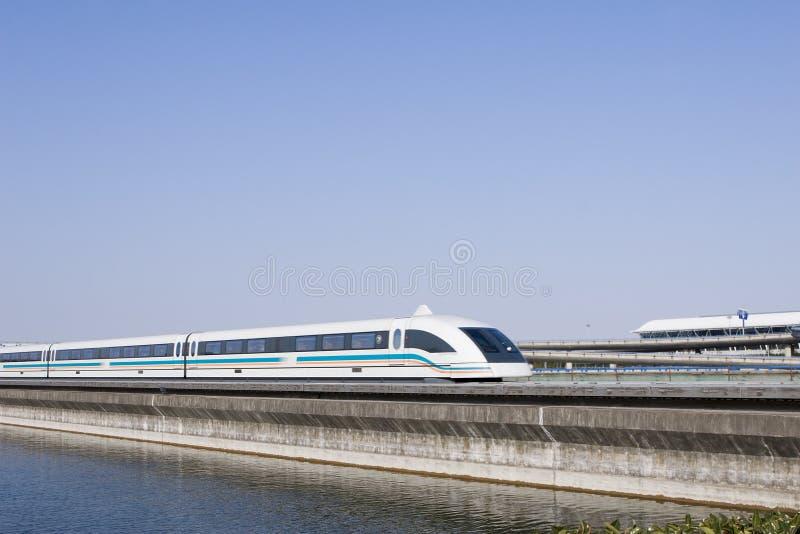 поезд левитации магнитный стоковое изображение rf