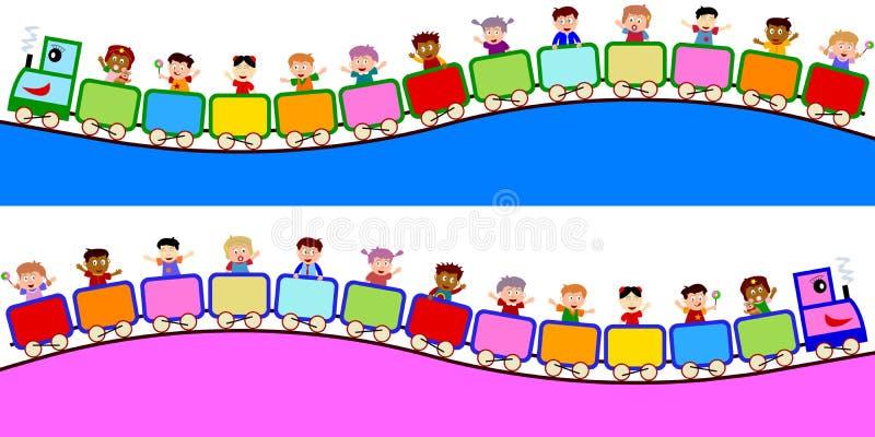поезд малышей границ иллюстрация штока
