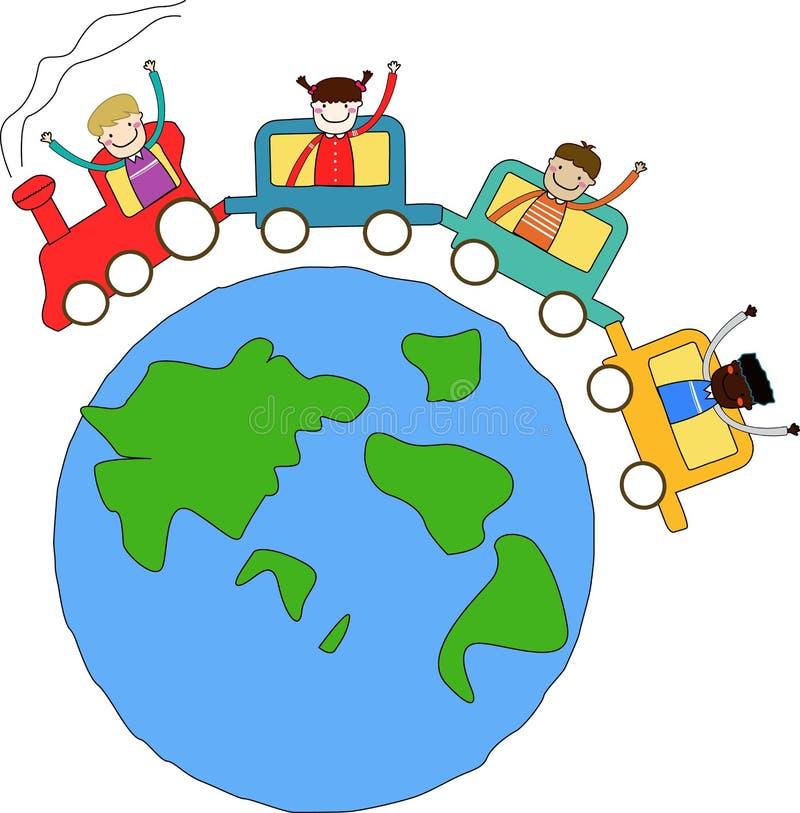 поезд малышей бесплатная иллюстрация