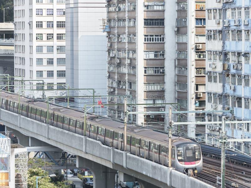 Поезд метро в Гонконге стоковая фотография