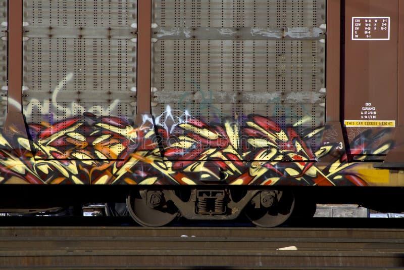 поезд надписи на стенах стоковые фотографии rf