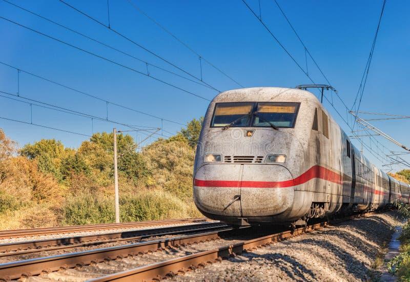 Поезд осени стоковое фото rf