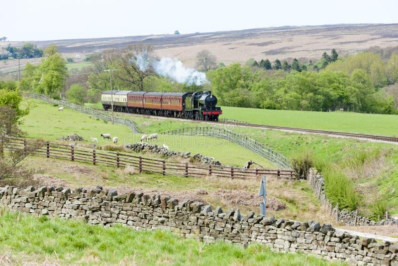 Поезд пара, Англия стоковые фото