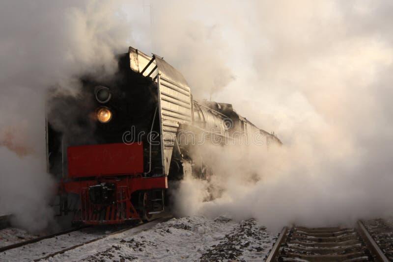 Поезд пара стоковые изображения
