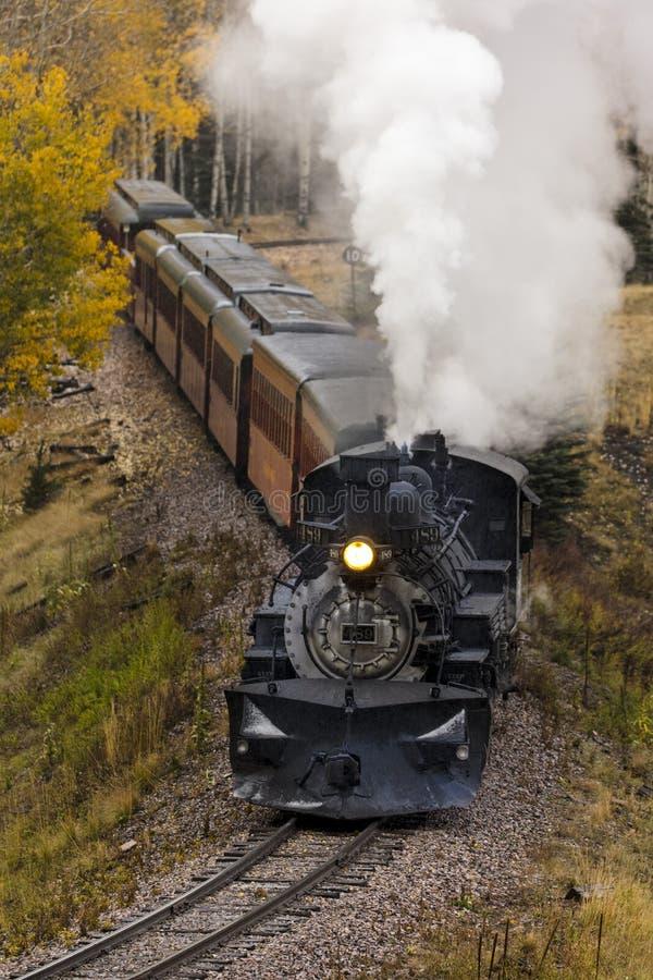 Поезд пара Cumbres & Toltec сценарный, Chama, Неш-Мексико к Antoni стоковая фотография rf
