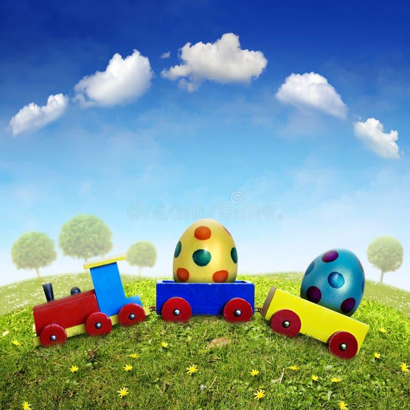 поезд пасхи стоковая фотография rf