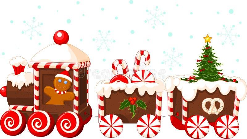 поезд рождества иллюстрация штока