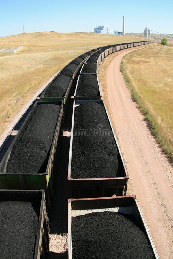 поезд силы завода угля стоковое фото rf