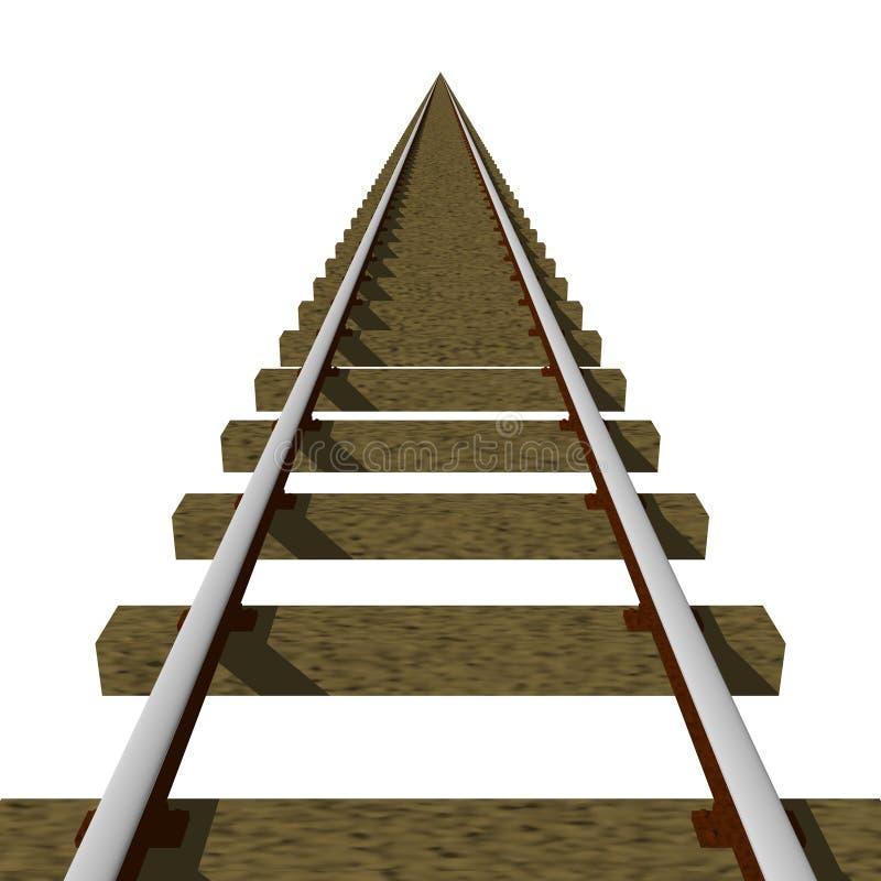 поезд следов иллюстрация вектора
