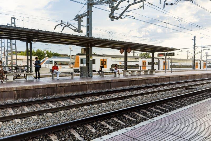 поезд станции barcelona стоковые фото