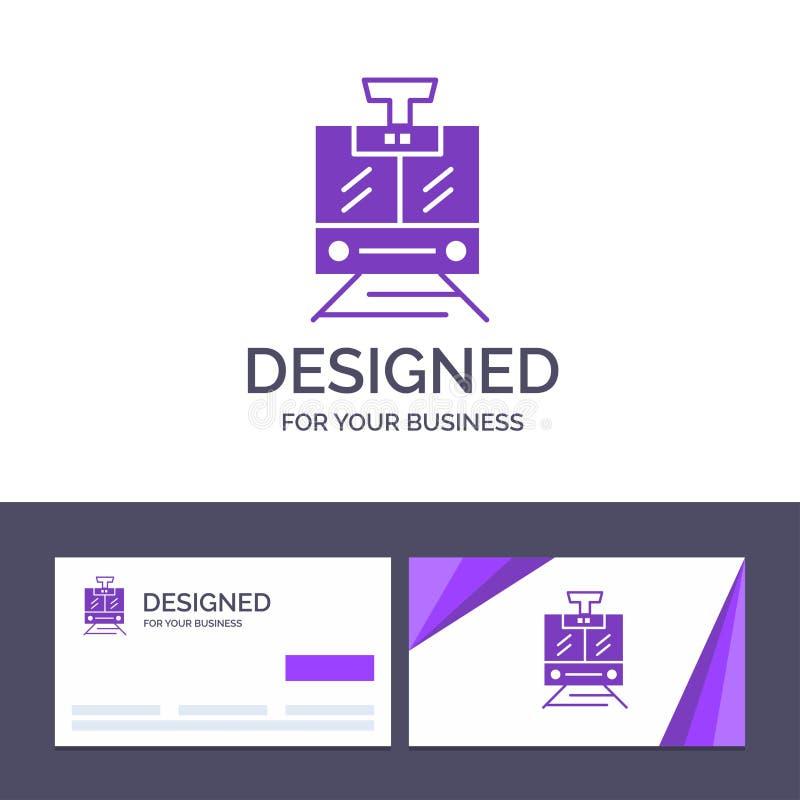 Поезд творческого шаблона визитной карточки и логотипа, публика, обслуживание, иллюстрация вектора корабля иллюстрация штока
