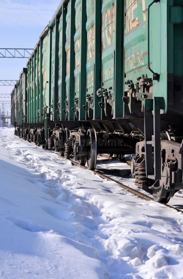 Поезд экипажи Зима солнечный день Россия стоковое изображение