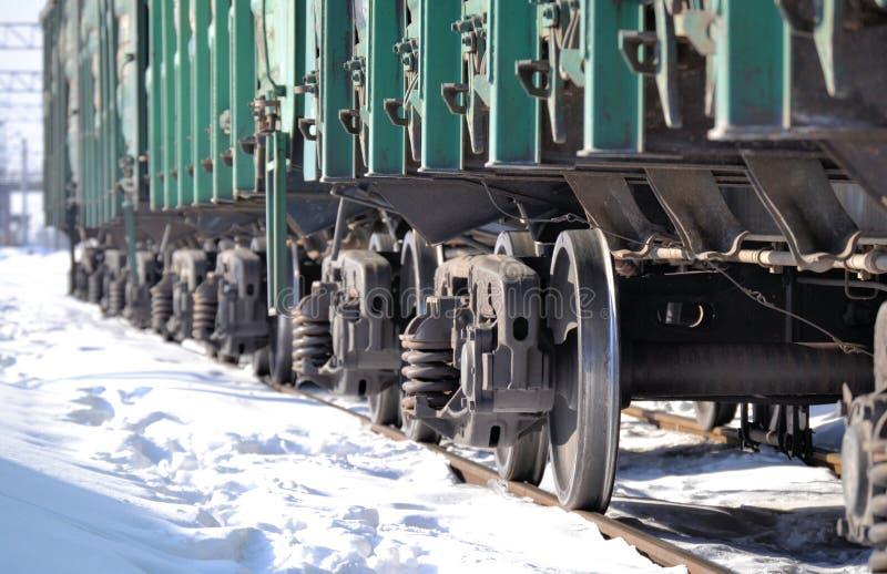 Поезд экипажи Зима солнечный день Россия стоковые фото